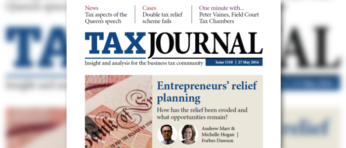 Entrepreneurs Tax Relief On Property